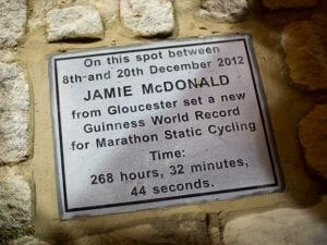 jamie mcdonald plaque cycling world record