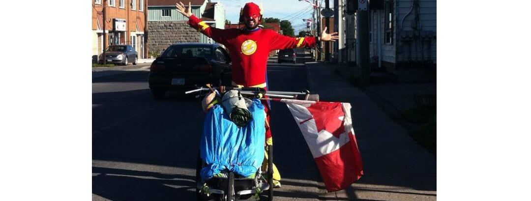 Press release – Real-life Superhero third of the way through 5,000 mile run across Canda