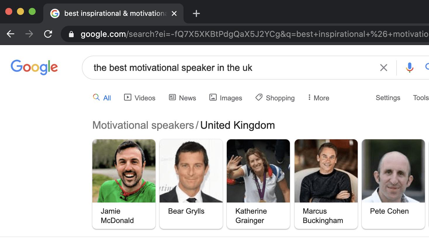The best motivational speaker in the UK